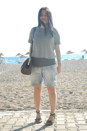 Pull and Bear t-shirt - Pull and Bear t-shirt - Pull and Bear shorts - Stradivar