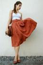 Burnt-orange-skirt