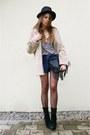 Romwe-coat-shirt-black-bag-iwearsin-shorts