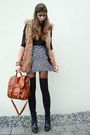 Black-socks-brown-bag