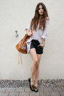 Aztec-bag-black-leather-shorts-leo-loafers