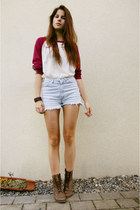 boots - vintage shorts