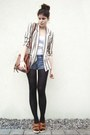 Striped-coal-n-terry-vintage-blazer-tawny-bag-blue-shorts-tawny-wedges