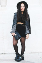 black cut out boots Lovelyshoes boots - black black lace top sammydress top