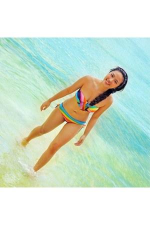 rainbow bikini BT couture swimwear