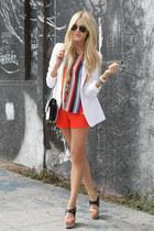 blazer - shorts - heels