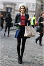 Leather-h-m-jacket-basic-h-m-tights-zara-bag-denim-zara-skirt
