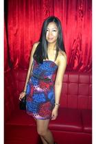 Topshop dress - Topshop belt - Bally purse