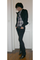 Zara hat - Zara shirt - Zara jacket - Zara jeans - H&M shoes