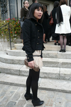 Zara jacket - asos dress - H&M shoes - Sequoia purse