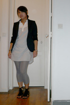 Zara blazer - H&M dress - H&M pants - asos shoes