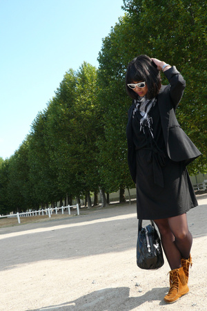 Zara blazer - Yesstyle dress - Minnetonka shoes - Sequoia purse