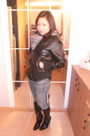 jacket - scarf - blouse - jeans - shoes
