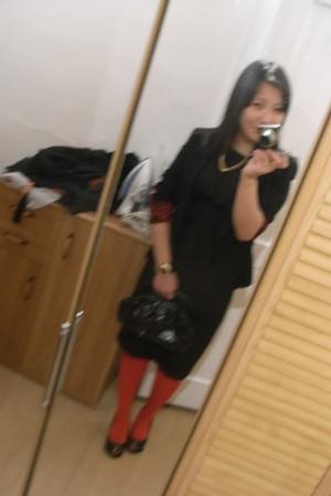 Zara blazer - Zara dress - Orsay purse - Italy shoes - H&M accessories - H&M tig