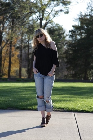 f21 shirt - Abercrombie jeans - Micheal Kors shoes