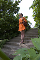 vintage dress - H&M purse - Michael Kors shoes - vintage sunglasses