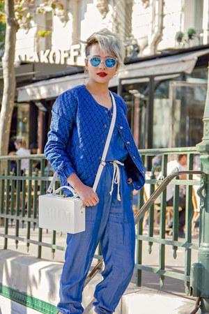 Max fashions jacket - Freyrs sunglasses - Ni Hao romper - Adidas sneakers