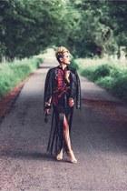 Ni Hao skirt - Sheinside jacket - Forever 21 heels