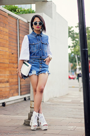 D Squared bracelet - Chicwish shoes - Iceberg jacket - OASAP shorts