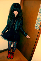 H&M jacket - Dr Martens shoes - Forever 21 accessories - H&M skirt