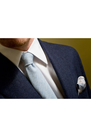 blue Emmett London jacket - white Emmett London shirt