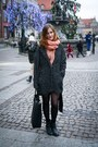 Black-urban-outfitters-boots-gray-tally-weijl-coat-peach-c-a-scarf
