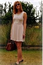 gold Accessorize bracelet - peach H&M dress - brown Primark bag