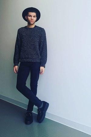 Demonia shoes - Zara pants