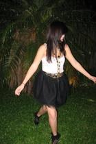 made by me skirt - Dont Ask Amanda top - vintage belt - Review necklace - socks
