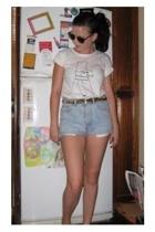 picasso shirt - Lisa Ho shorts - Guess belt