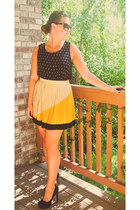 accordion style Sugarlips Apparel skirt - worn as top Forever 21 dress