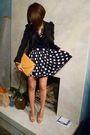 Blue-vintage-skirt-beige-dorothy-perkins-shoes-black-zara-shirt-silver-fro