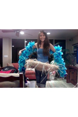 blue Feather Boa accessories