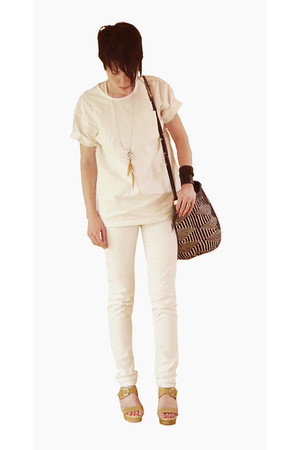 SSWTR top - Cheap Monday jeans - Rachel Comey shoes - mad imports purse