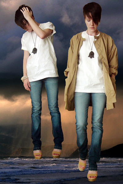 slowandsteadywinstherace top - KsubiTsubi jeans - AprilMay coat - Rachel Comey s