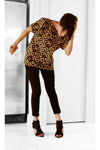 Self Made top - 31 phillip lim pants - Jcrew bracelet - all black shoes