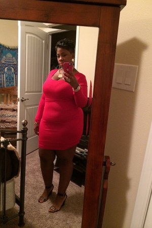 red bodycon dress Charlotte Russe dress