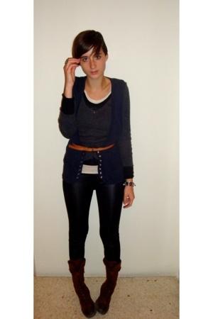 Topshop vest - Funk Rock sweater - Bershka - Pull & Bear boots