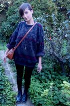 vintage sweater - vintage purse - Bershka tights - doc martens