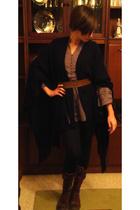 Dunnes - Zara dress - viintage belt - Zara - pull&bear shoes