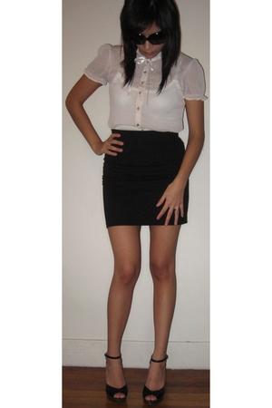 H&M shirt - banana republic top - H&M skirt - BCBGgirls shoes
