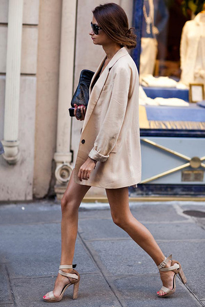 Beige Oversized Blazers Quot Simple Chicness Quot By