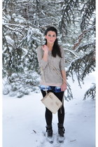 Forever 21 necklace - hinge boots - cutoffs Wrangler jeans