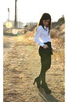 Jeffrey Campbell boots - H&M shorts - vintage blouse
