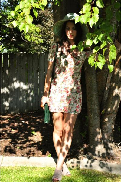 mini dress Final Touch dress - cross body vintage bag - Ciao Bella heels