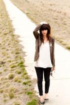 Chloe K blazer - Forever 21 jeans - vintage accessories - seychelles heels
