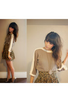 vintage sweater - hm skirt