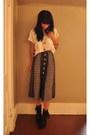 High-waisted-bluepea-skirt