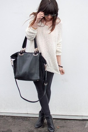 vintage sweater - ecote boots - Vince Camuto bag