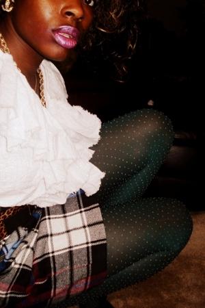vintage tights - Old Navy blouse - vintage skirt - vintage skirt - Express belt